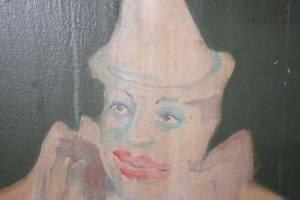 Rotunda mural clown